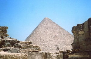 The Great Pyramid at Giza was originally covered in limestone that shined like a sun ray