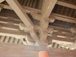 A traditional Chinese roof in Datong.