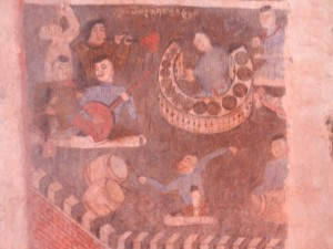 Part of a mural in Wat Phumin, Nan, Thailand.