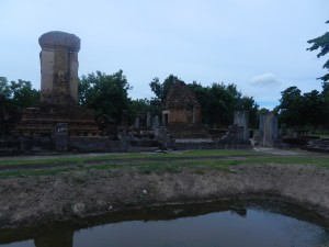 The grace of Thai art at Wat Chetuphon, Sukhothai, Thailand.