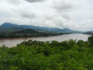 Luang Prabang from across the Mekong, Laos.