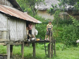 Peaceful village life in Laos.