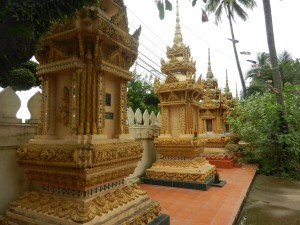 Shrines in Vientiane, Laos.