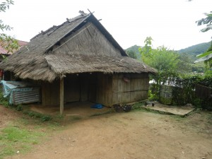 A home in the mountains of Laos, near Luang Prabang.