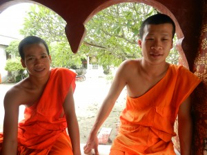 Monks in Luang Prabang, Laos.