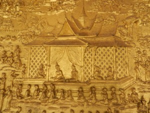 The frieze on Wat Mai, Luang Prabang, Laos.